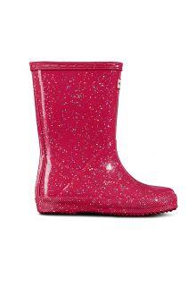 Hunter---Regenlaarzen-voor-meisjes---Kids-First-Classic---Glitter---Roze