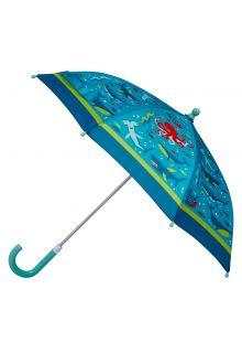 Stephen-Joseph---Paraplu-voor-jongens---Haai---Lichtblauw/donkerblauw
