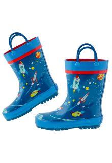 Stephen-Joseph---Regenlaarzen-voor-jongens---Ruimte---Donkerblauw/blauw