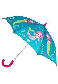 Stephen-Joseph---Kleur-veranderende-paraplu-voor-meisjes---Zeemeermin---Turquoise