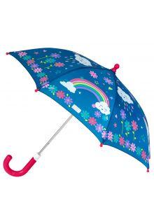 Stephen-Joseph---Kleur-veranderende-paraplu-voor-meisjes---Regenboog---Donkerblauw