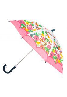 Stephen-Joseph---Paraplu-voor-meisjes---Vlinder---Gebroken-wit/roze