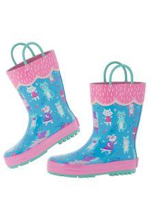 Stephen-Joseph---Regenlaarzen-voor-meisjes---Katten-&-honden---Lichtblauw/roze