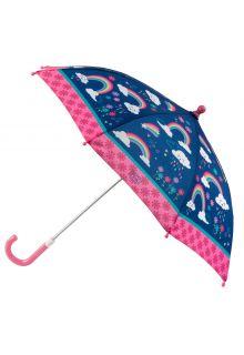 Stephen-Joseph---Paraplu-voor-meisjes---Regenboog---Donkerblauw/roze