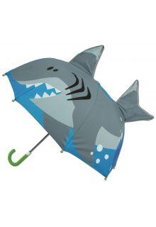 Stephen-Joseph---Pop-up-paraplu-voor-jongens---Haai---Blauw