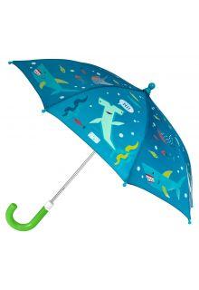 Stephen-Joseph---Kleur-veranderende-paraplu-voor-jongens---Haai---Donkerblauw