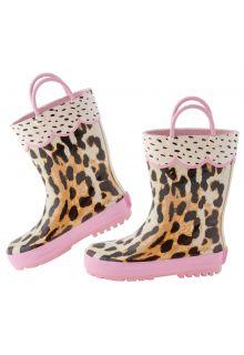 Stephen-Joseph---Regenlaarzen-voor-meisjes---Luipaard---Multi/Pink