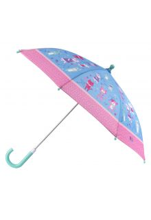 Stephen-Joseph---Paraplu-voor-meisjes---Katten-&-honden---Lichtblauw/roze