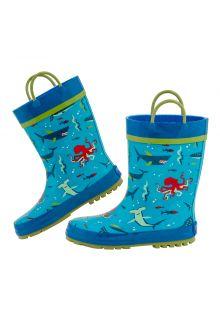 Stephen-Joseph---Regenlaarzen-voor-jongens---Haai---Lichtblauw/blauw