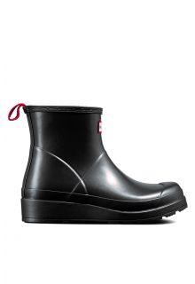 Hunter---Regenlaarzen-voor-dames---Nebula-Play-Boots---Kort---Zwart
