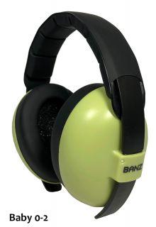 Banz---Geluidsreducerende-oorbeschermers-voor-baby's---Hear-no-Blare---Bladgroen