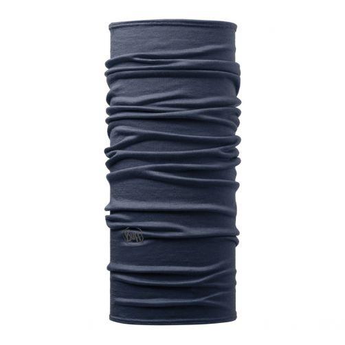 Buff---Lichtgewicht-Merinnowollen-Nekwarmer-Solid-voor-volwassenen---Denimblauw