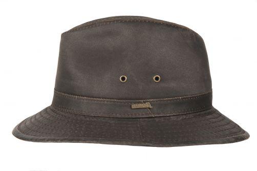 Hatland---Stoffen-hoed-voor-heren---Orville---Bruin