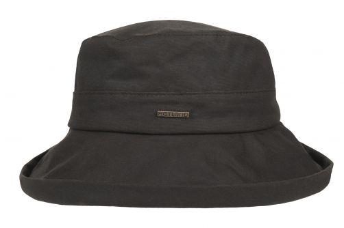 Hatland---Stoffen-hoed-voor-dames---Merridin---Bruin