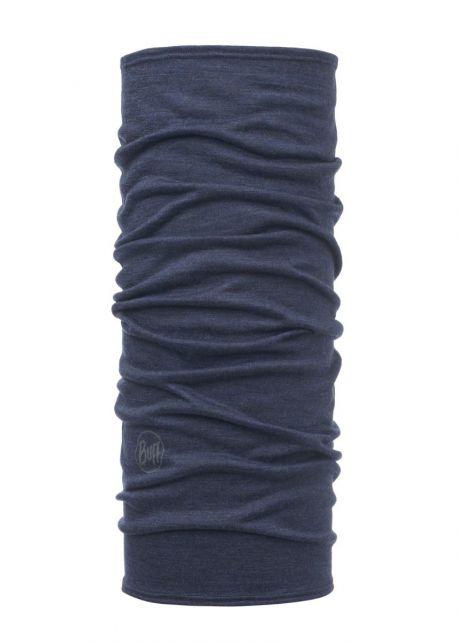 Buff---Lichtgewicht-Merinnowollen-Nekwarmer-Solid-voor-kinderen---Denimblauw