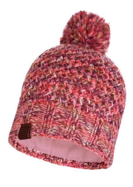 Buff---Gebreide-Polar-Muts-Margo-met-pompom-voor-volwassenen---Roze