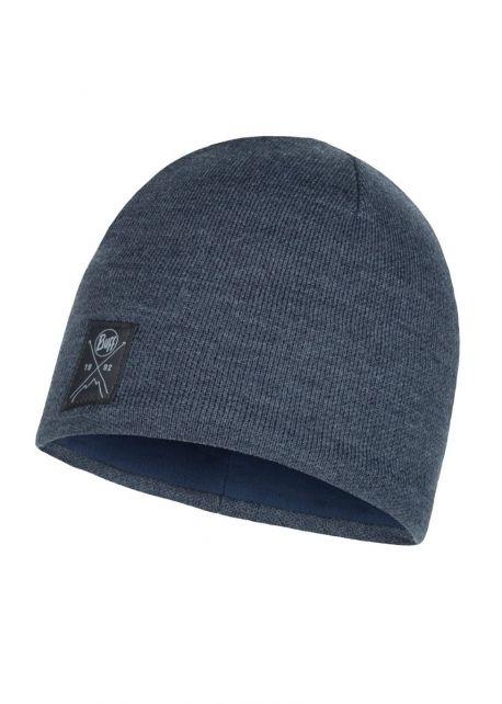 Buff---Gebreide-Polar-Muts-Solid-voor-volwassenen---Donkerblauw