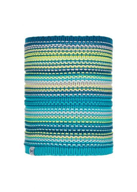 Buff---Gebreide-Polar-Nekwarmer-Amity-voor-kinderen---Turquoise/Multi