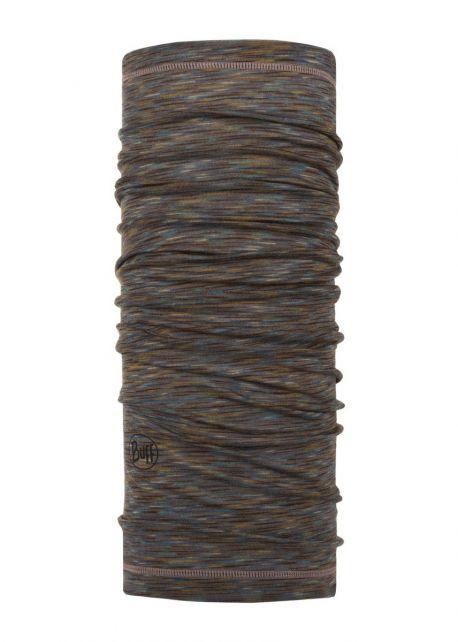 Buff---Lichtgewicht-Merinnowollen-Nekwarmer-Stripes-voor-volwassenen---Bruin/Multi