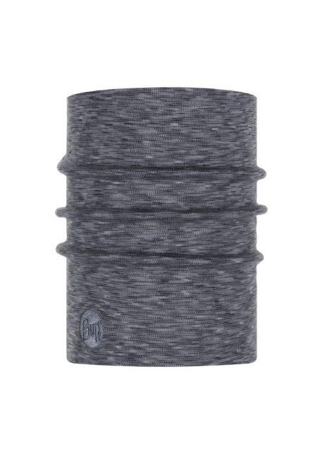 Buff---Twee-laags-merinowollen-Nekwarmer-Stripes-voor-volwassenen---Mistgrijs