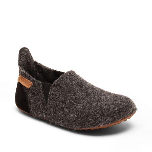 Bisgaard---Pantoffels-voor-baby's---Sailor-wool---Antraciet