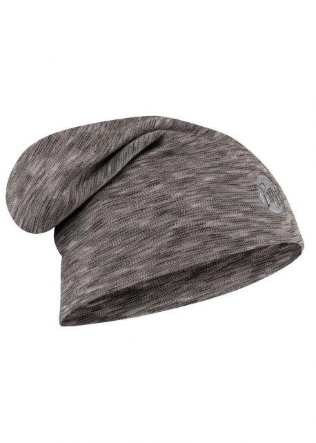 Buff---Twee-laags-merinowollen-Muts-Stripes-voor-volwassenen---Loose-fit---Mistgrijs