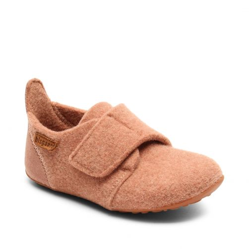 Bisgaard---Pantoffels-voor-baby's---Casual-wool---Roze