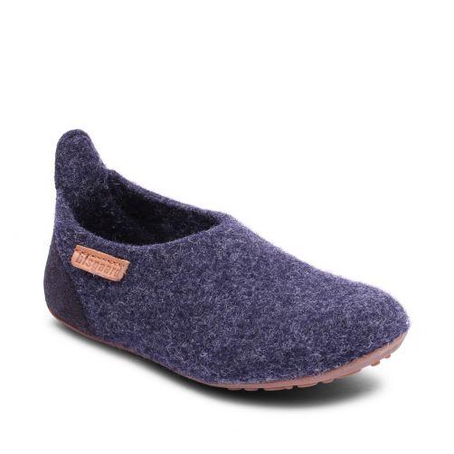Bisgaard---Pantoffels-voor-baby's---Basic-wool---Blauw