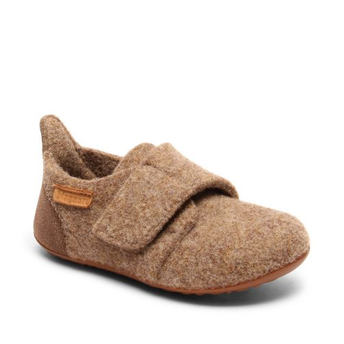 Bisgaard---Pantoffels-voor-baby's---Casual-wool---Bruin