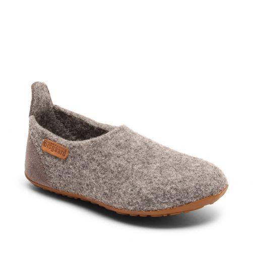 Bisgaard---Pantoffels-voor-baby's---Basic-wool---Grijs