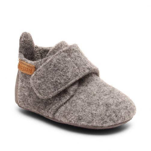 Bisgaard---Pantoffels-voor-baby's---Baby-wool---Grijs