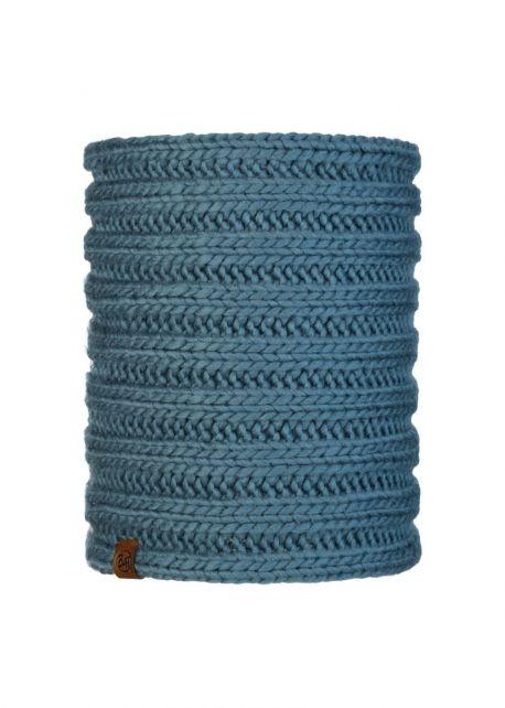 Buff---Gebreide-Nekwarmer-Comfort-Vanya-voor-volwassenen---Blauw