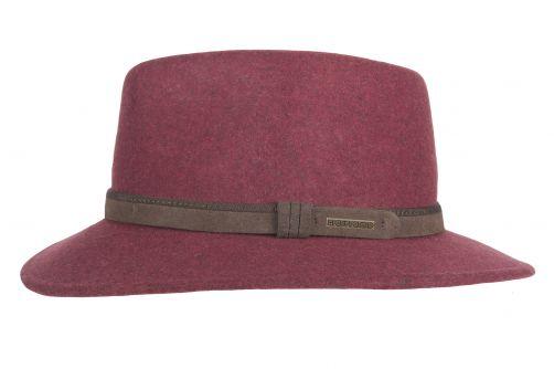 Hatland---Wollen-hoed-voor-heren---Toronto---Bordeauxrood