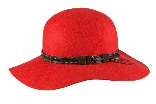 Hatland---Wollen-hoed-voor-dames---Leonora---Rood