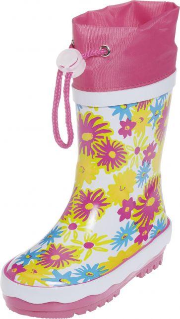 Playshoes---Regenlaarsje-Bloemen-Print---Wit