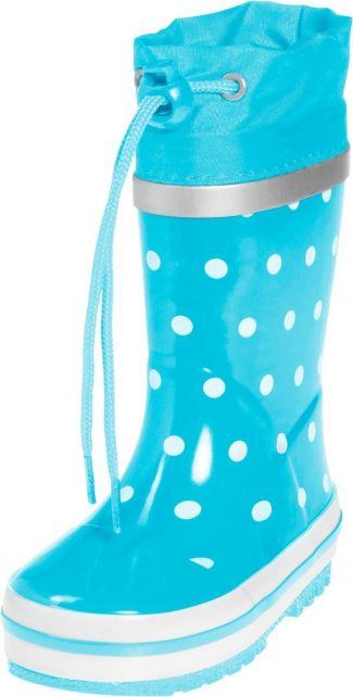 Playshoes---Regenlaarsje-Stippen---Turquoise