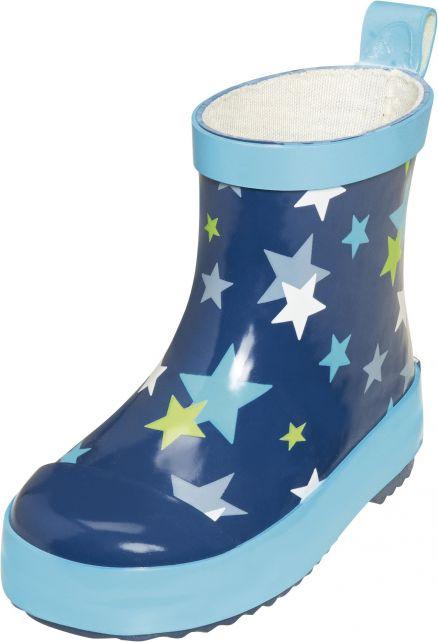 Playshoes---Korte-regenlaarsjes---Blauw-met-sterren