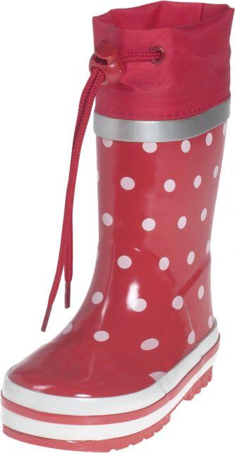 Playshoes---Regenlaarsje-Stippen---Rood