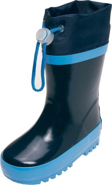 Playshoes---Regenlaarsjes-met-trekkoord---Donkerblauw