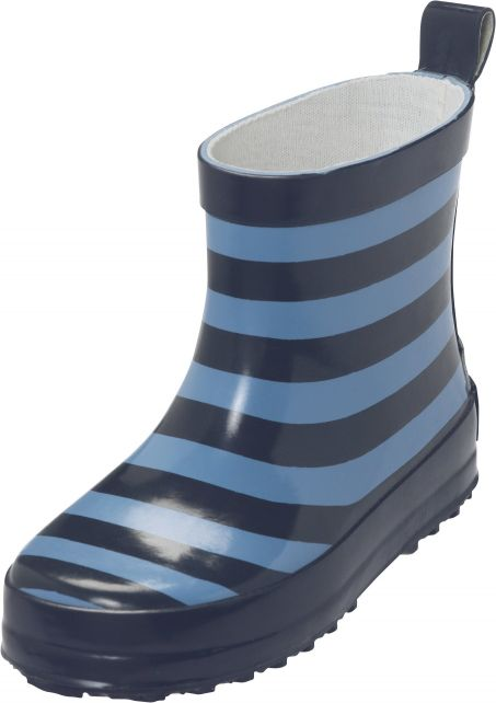 Playshoes---Korte-regenlaarsjes---Blauw-gestreept