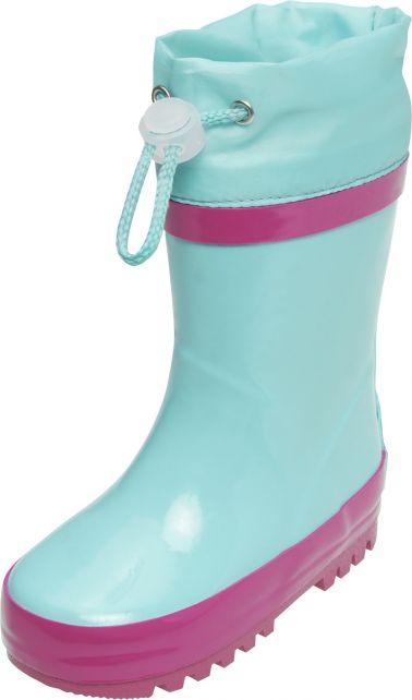 Playshoes---Regenlaarsjes-met-trekkoord---Turquoise/Roze