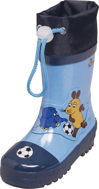 Playshoes---Regenlaarsje-Muis-&-Olifant-Football---Blauw