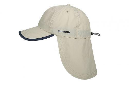 Hatland---UV-pet-met-nekflap-voor-heren---Stone---anti-muggen---Beige