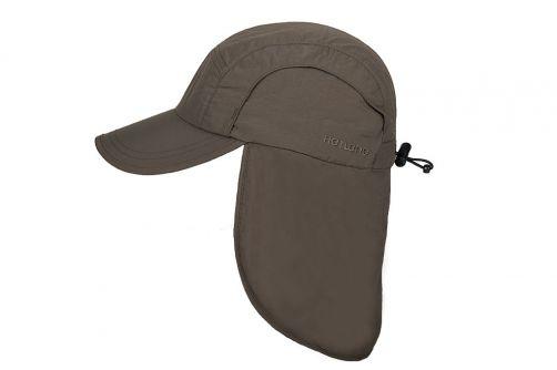 Hatland---Verkoelende-UV-pet-met-nekbescherming-voor-heren---Malcolm---Olijf