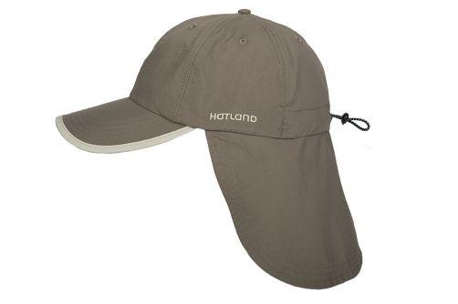 Hatland---UV-pet-met-nekflap-voor-heren---Stone---anti-muggen---Olijfgroen