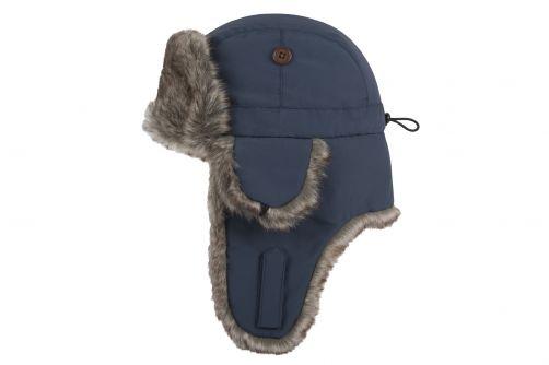 Hatland---Pilotenmuts-met-imitatiebont-voor-volwassenen---Wilbar---Blauw