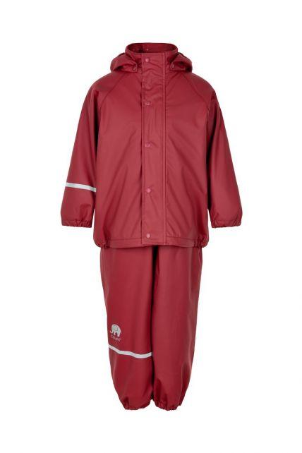 CeLaVi---Regenset-met-fleece-voor-kinderen---boord-of-elastische-taille---Donkerrood