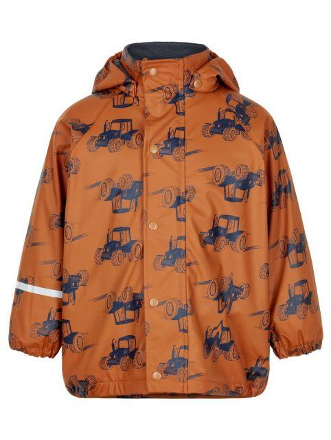 CeLaVi---Regenjas-met-fleece-voor-jongens---Traktor---Pompoen