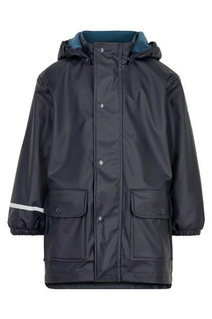 CeLaVi---Regenjas-met-fleece-voor-jongens---Donkerblauw