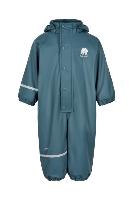 CeLaVi---Regenpak-met-fleece-voor-kinderen---Solid---IJsblauw